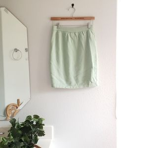 St John Mint Green Knit Skirt Size 4
